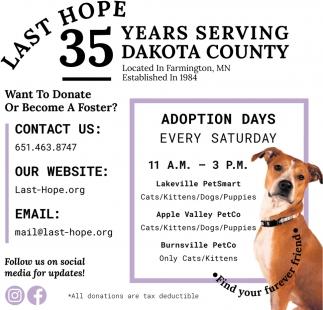 35 Years Serving Dakota County