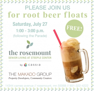 Please Join Us for Root Beer Floats