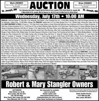 Auction Wednesday, July 17th