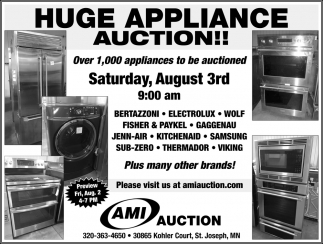 Huge Appliance Auction!