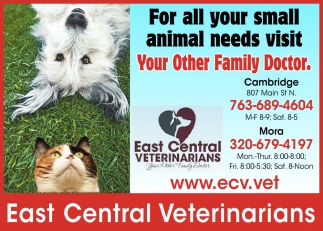 For All Your Small Animal Needs Visit Your Other Family Doctor
