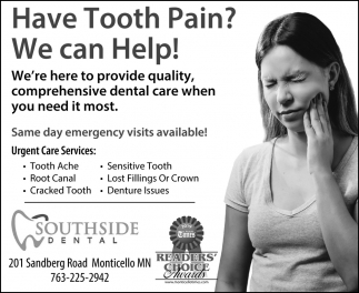 Have Tooth Pain? We Can Help