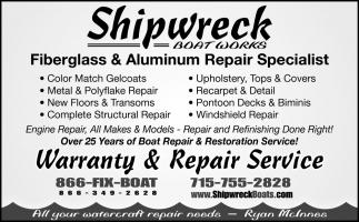 Fiberglass & Aluminum Repair Specialist