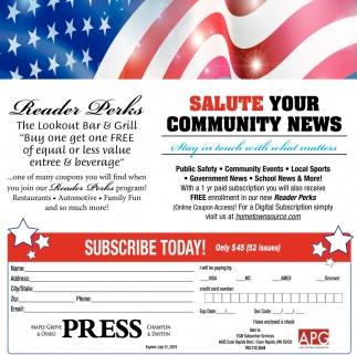 Salute Your Community News