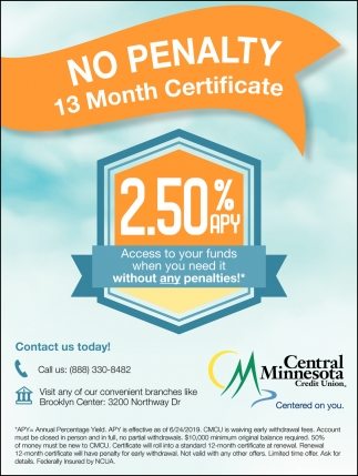 No Penalty 13 Month Certificate