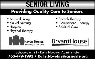 Providing Quality Care to Seniors