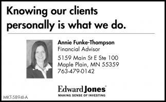 Knowing Our Clients Personally is What We Do