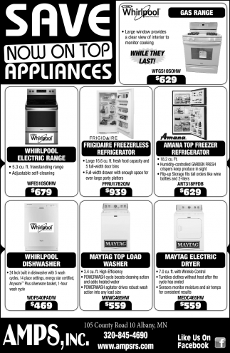 Save Now on Top Appliances