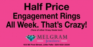 Half Price Engagement Rings