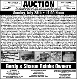 Auction Sunday, July 28th