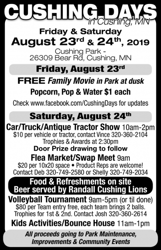 Cushing Days in Cushing, MN