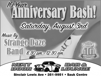 10 Year Anniversary Bash!