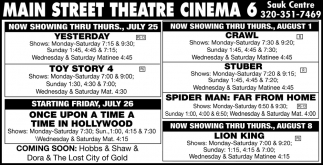 Now Showing Thru Thurs,. July 25