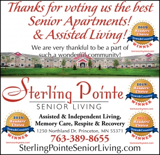 Thanks for Voting Us the Best Senior Apartments!