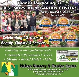 Thanks for Voting Us Best Nursery & Garden Centre