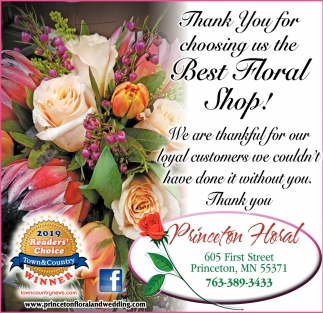 Thank You for Choosing Us the Best Floral Shop!