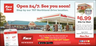 Open 24/7  See You Soon!, Kwik Trip, Minneapolis, MN
