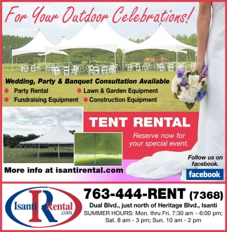For Your Outdoor Celebrations!