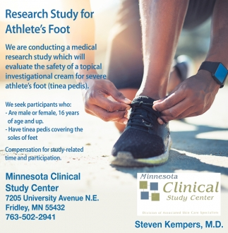 Research Study for Athlete's Foot