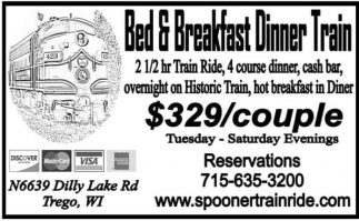 Bed & Breakfast Dinner Train