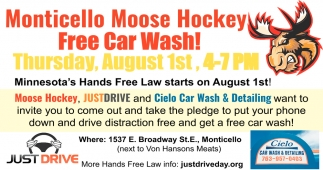 Monticello Moose Hockey Free Car Wash!