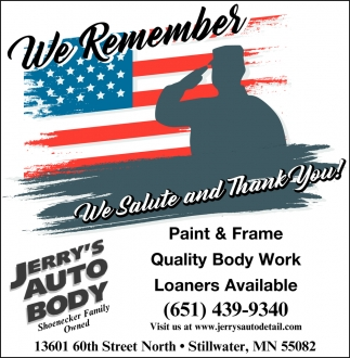 We Salute and Thank You!