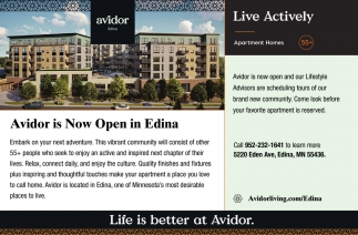 Avidor is Now Open in Edina