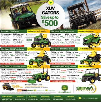 XUV Gators Save Up to $500