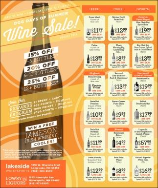 Dog Days of Summer Wine Sale!