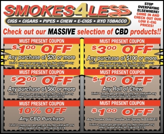 Check Out Our Massive Selection of CBD Products!