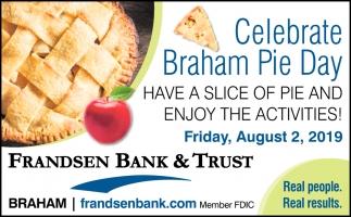 Celebrate Braham Pie Day