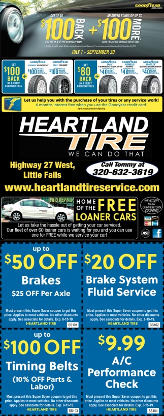 Let Us Help You with the Purchase of Your Tires or Any Service Work!