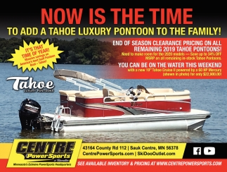 Now is the Time to Add a Tahoe Luxury Pontoon to the Family!