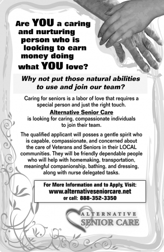 Looking for Caring, Compassionate Individuals to Join their Team