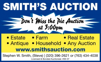 Don't Miss the Pie Auction