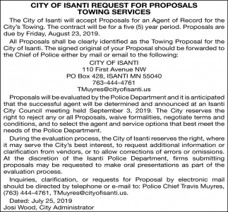 Request for Proposals Towing Services