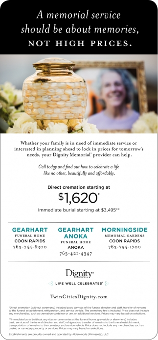 A Memorial Service Should be About Memories, Not High Prices