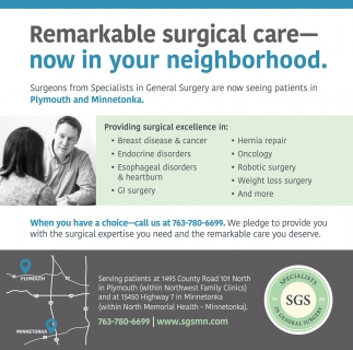 Remarkable Surgical Care - Now in Your Neighborhood