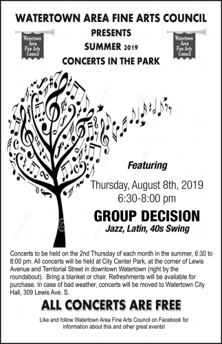 Summer 2019 Concerts in the Park