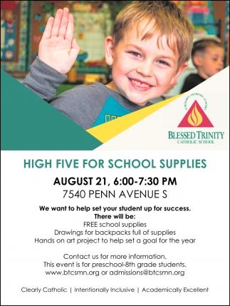 High Five for School Supplies