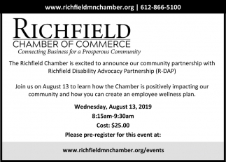 Excited to Announce Our Community Partnership with Richfield Disability Advocacy Partnership