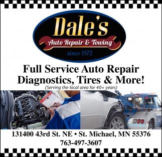 Full Service Auto Repair, Diagnostics, Tires & More!