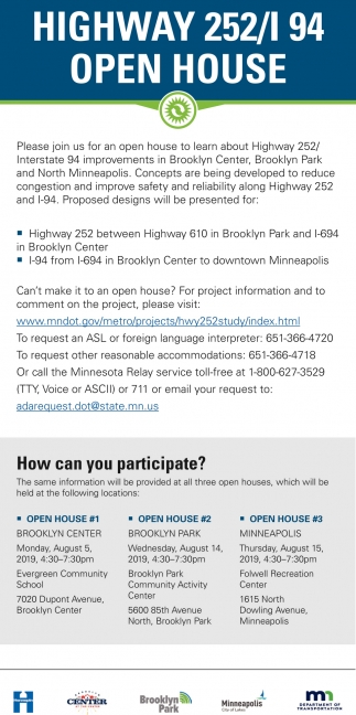 Highway 252/L 94 Open House
