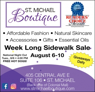 Week Long Sidewalk Sale