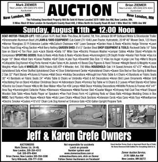 Auction Sunday, August 11th