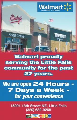Walmart Proudly Serving the Little Falls Community for the Past 27 Years