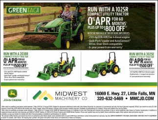 Run with a 1025R Compact Utility Tractor