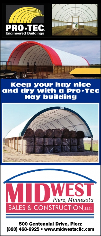 Keep Your Hay Nice and Dry with a Pro-Tect Hay Building