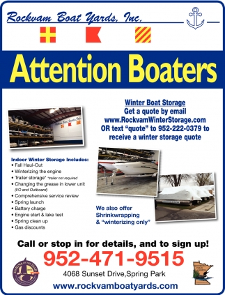 Attention Boaters