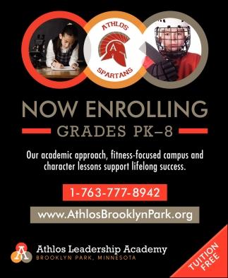Now Enrolling Grades PK-8